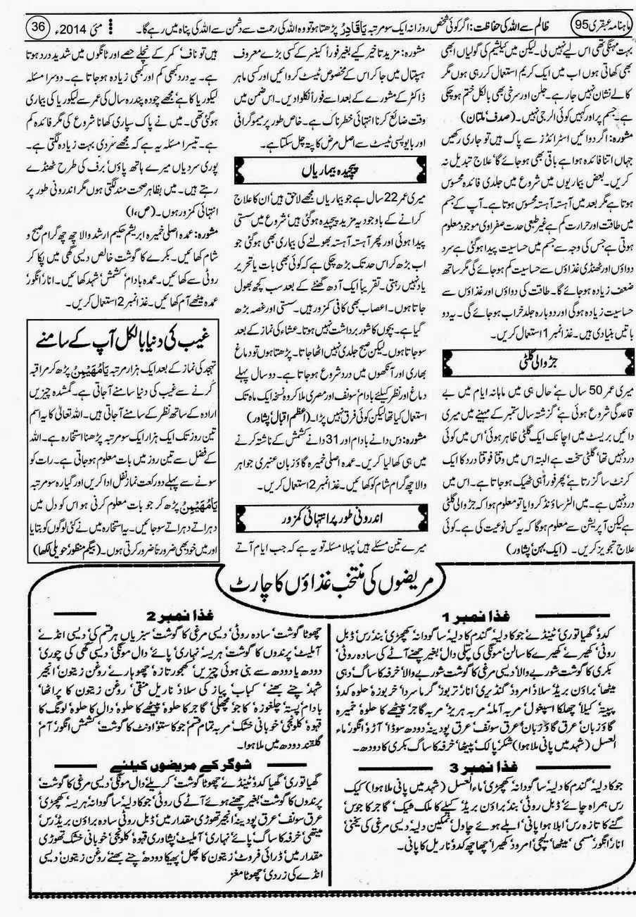 Page 36 Ubqari May 2014