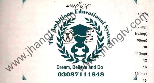 Guess for Urdu Lazmi 10th Class 2018