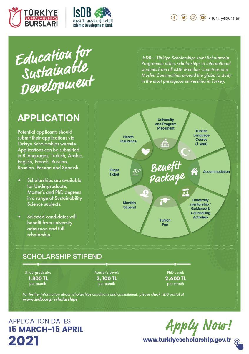 IsDB Scholarships International Joint Scholarship Programme For Academic Year 2021-22