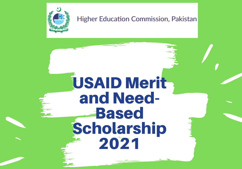 USAID Funded Scholarship Merit And Needs-Based Program HEC 2021